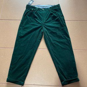 Polo Ralph Lauren Baggy Fit Pleated Corduroy Green